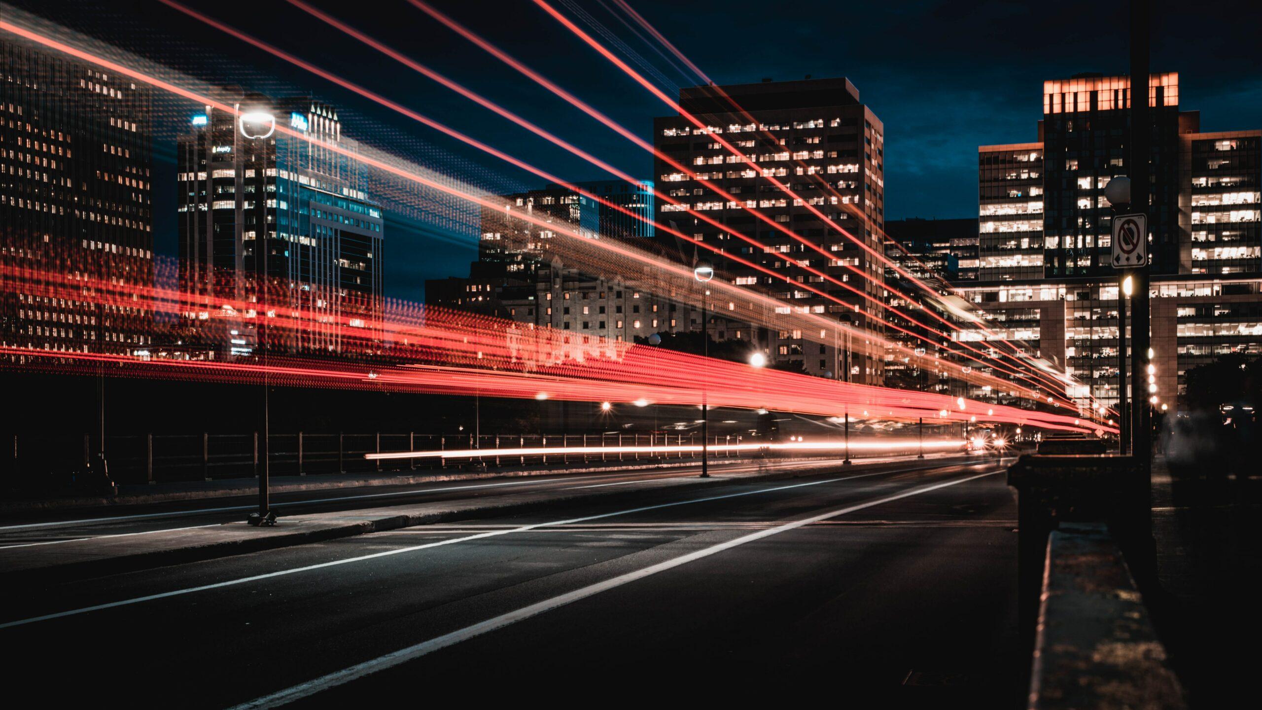 Esempio Di Fibra Ottica In Una Città